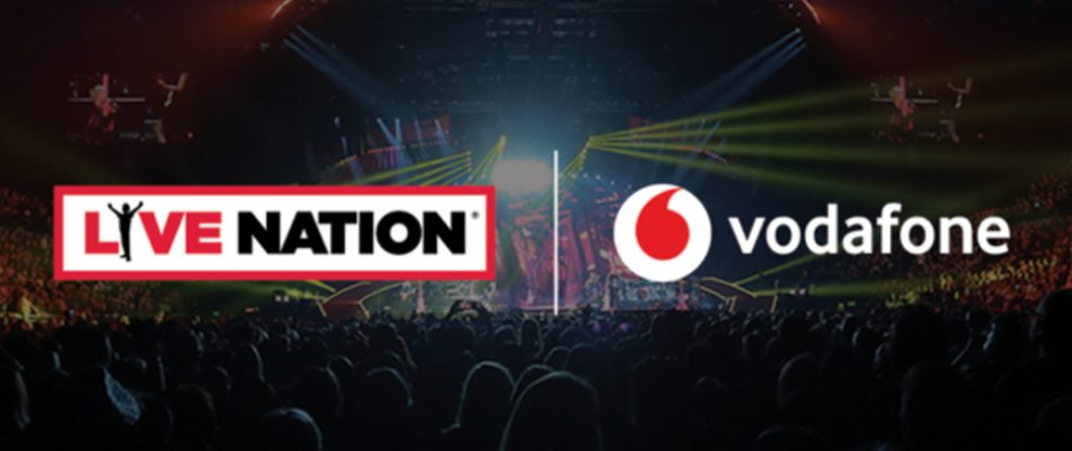 Live Nation And Vodafone Announce Exclusive Long-Term Partnership
