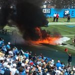 Fire Erupts on Field Ahead of Titans-Colts Game