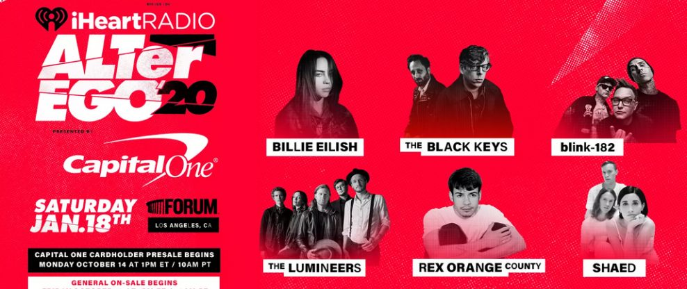 Billie Eilish, Blink-182, The Black Keys & More Set For 3rd Annual iHeartRadio ALTer Ego Concert