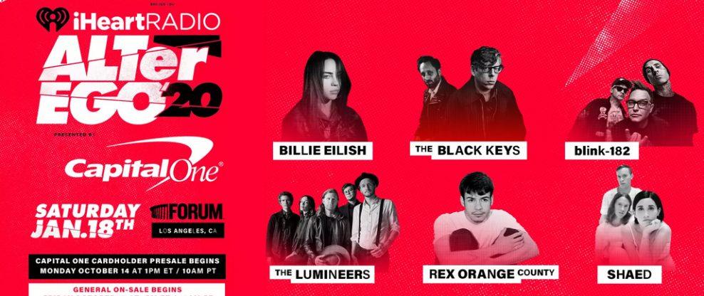 2020 Iheartradio Music Festival Lineup.Billie Eilish Blink 182 The Black Keys More Set For 3rd