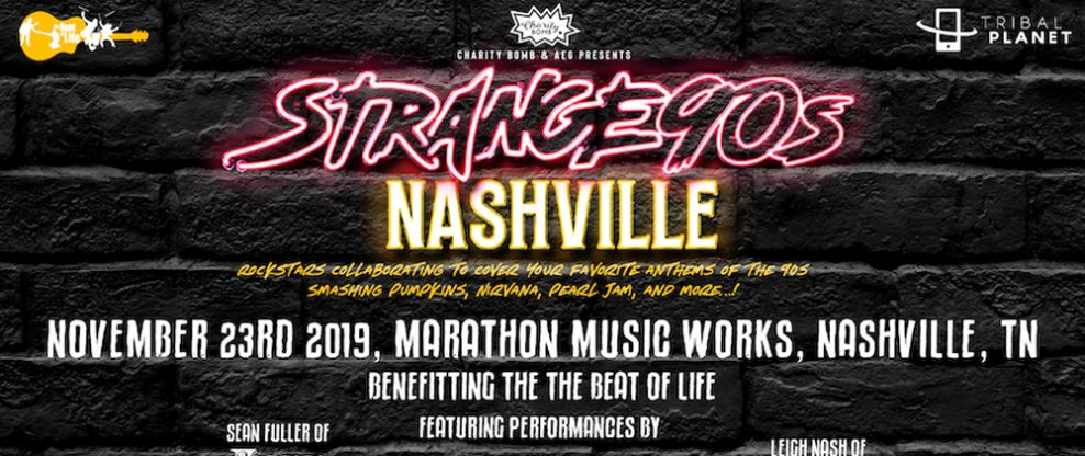 Charity Bomb & AEG Presents Strange 90s Nashville Benefit Concert
