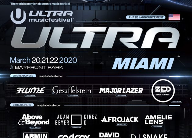 Ultra Music Festival Reveals Phase 1 Lineup