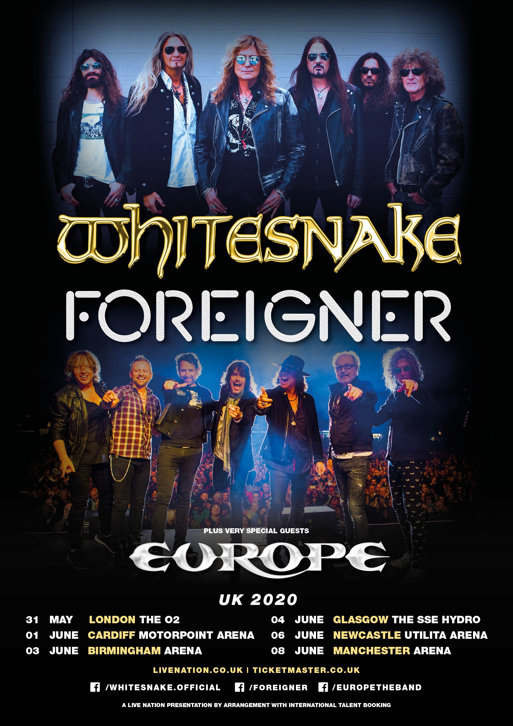 Whitesnake and Foreigner Announce 2020 UK Tour ...