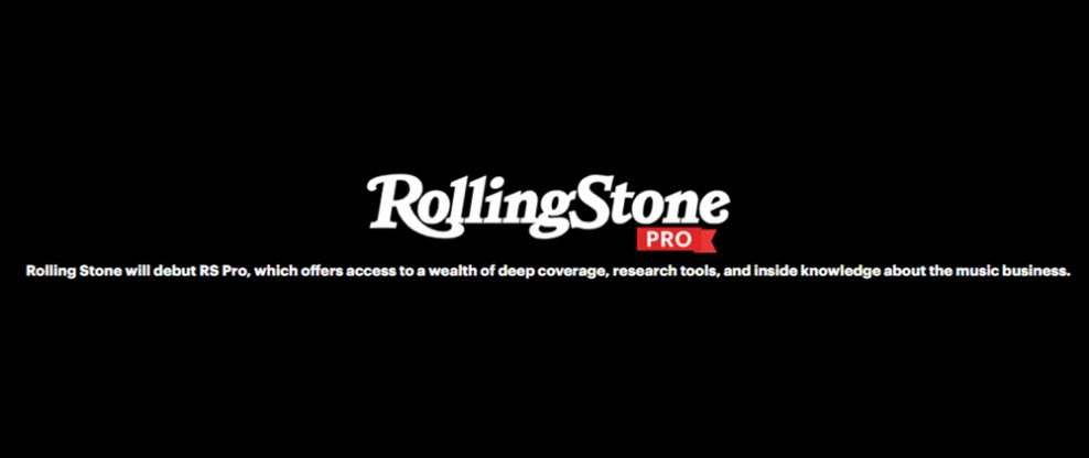 Rolling Stone To Launch Billboard Competitor 'RS Pro'