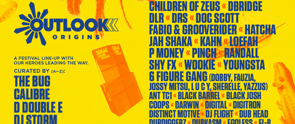 Outlook Origins Reveals First Wave of Artists For 2020 Edition: Shy FX, dBridge, Wookie, Youngsta & More