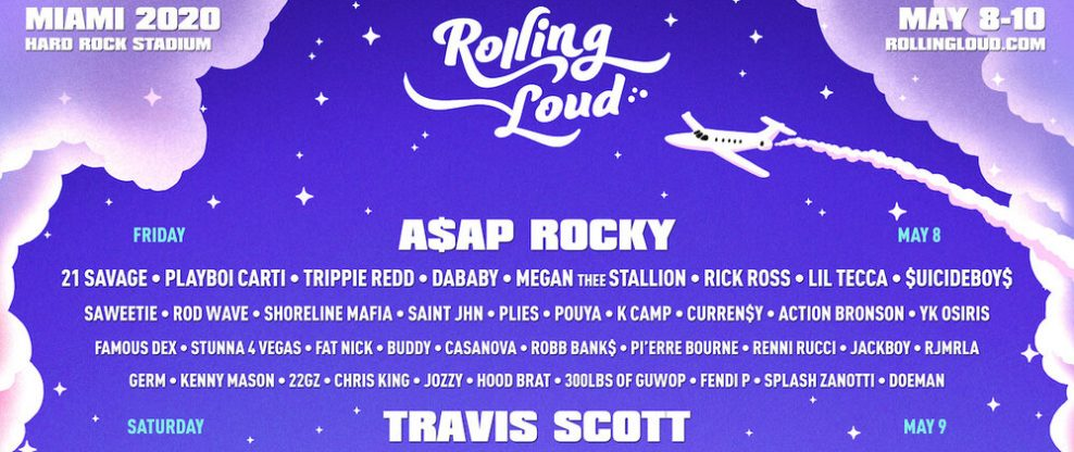 Rolling Loud Miami Announces Stacked 2020 Lineup Ft. Post Malone, Travis Scott, A$AP Rocky, 21 Savage & More