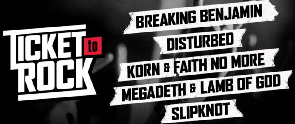 Live Nation Announces Ticket To Rock 2020 With Breaking Benjamin, Disturbed, Slipknot & More