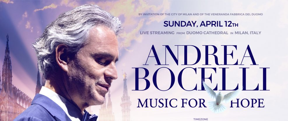 Andrea Bocelli's 'Music For Hope' Easter Concert Clocks More Than 2.8M Online Viewers