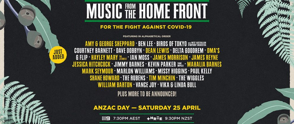 Frontier Touring Announces Music From The Homefront, A Virtual Music Fest For ANZAC Day
