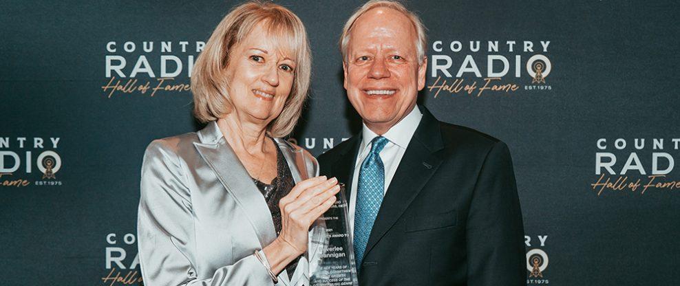 2021 CRB President's Award recipient Beverlee Brannigan and CRB/CRS Board President Kurt Johnson.